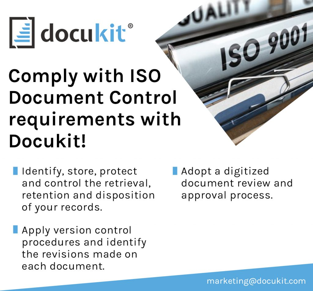 ISO Document Control requirements